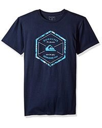 Quiksilver - Blue Octa Logo T-shirt for Men - Lyst