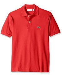 Lacoste Multicolor Short Sleeve Pique L.12.12 Classic Fit Polo Shirt, Past Season for men