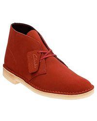 Clarks - Red Originals Desert Boot for Men - Lyst