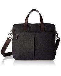 Fossil - Black Buckner Leather Brief Workbag for Men - Lyst