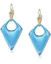 Alexis Bittar - Blue Pointed Pyramid Drop Earrings - Lyst