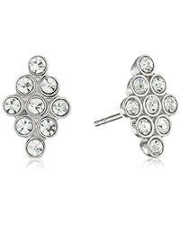 Fossil - Metallic Vintage Glitz Diamond-shaped Stud Earrings - Lyst