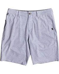 """Quiksilver - Blue Transit Amphibian 20"""" Boardshort Walk Shorts, Sleet, 32 for Men - Lyst"""