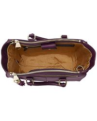 Dolce Vita - Purple Glazed Leather Tote Bag - Lyst
