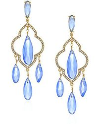 Kate Spade - Chandelier Blue Drop Earrings - Lyst
