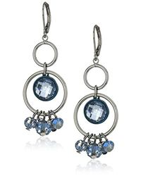 Anne Klein - Multicolor Hematite Shaky Orbital Earrings - Lyst