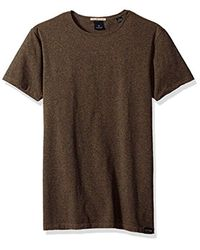 Scotch & Soda - Brown Stretch Cotton T-shirt for Men - Lyst
