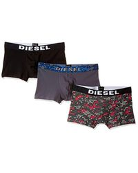 DIESEL - Red Umbx-shawnthreepack Micropattern Boxer 3pack for Men - Lyst