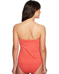 Vince Camuto - Red Riviera Solids Draped Bandini Top W/ Soft Cups & Removable Strap - Lyst