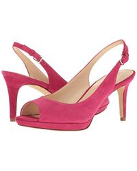 Nine West - Pink Gabrielle Suede Dress Pump - Lyst