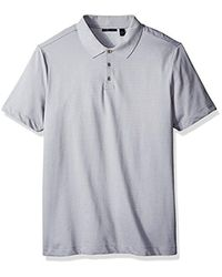 Perry Ellis Gray Big And Tall Two Button Birdseye Texture Polo for men
