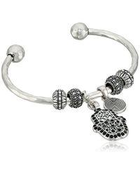Lucky Brand - Metallic Hamsa Charm Cuff Bracelet - Lyst