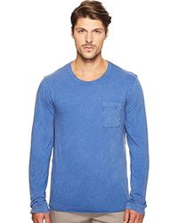 Alternative Apparel - Blue Brushed Supima Cotton W/ Sun-dried Wash Saltwater Long Sleeve Tee for Men - Lyst