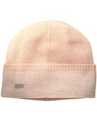 Calvin Klein - Pink Studded Slouchy Beanie - Lyst