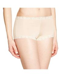 e5c9dacf51 Lyst - Maidenform Microfiber Lace Boyshort Panty in Natural