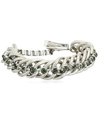 Kenneth Cole - Multicolor Social Items Faceted Bead Toggle Link Bracelet - Lyst