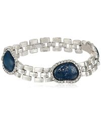 """Sam Edelman - Multicolor Lapis Watchband Line Bracelet, 7.5"""" - Lyst"""