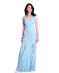 Sky Clothing Collection - Blue Sky Wilmotte Eyelet & Lace Maxi Dress In Mist - Lyst