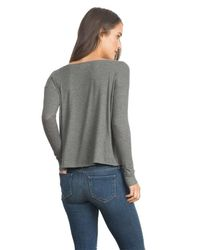 Feel The Piece - Gray By Terre Jacobs Madi Top In Pine - Lyst