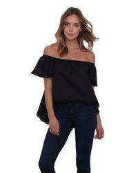 Mcguire - Odeon Ruffle Shirt In Black - Lyst