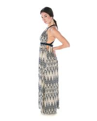 T-bags - Blue Zig Zag Maxi Dress - Lyst
