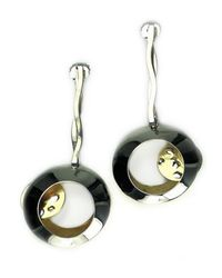 Sibilla G Jewelry | Metallic Sibilla G Side Lunar Eclipse Fashion Earrings | Lyst