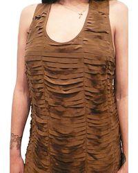 Sheri Bodell - Brown Laser Cutout Dress - Lyst