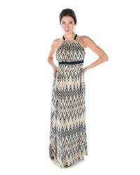 T-bags | Blue Zig Zag Maxi Dress | Lyst