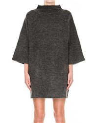 C/meo Collective   Gray Collective Warm Winds Dress In Grey Marbel   Lyst