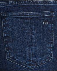 American Rag Cie - Blue 10 Inch Capri W/ Slit - Lyst