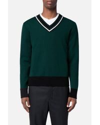 AMI | Green V Neck Sweater for Men | Lyst