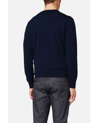 AMI - Blue Ami De Cœur Sweater for Men - Lyst