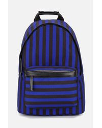 AMI - Blue Zipped Backpack for Men - Lyst