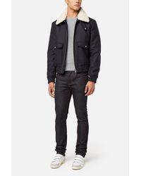 AMI - Blue Zipped Jacket for Men - Lyst