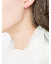 Julien David   Metallic Diamond Short Spear Earrings   Lyst