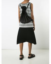 Anastasia Boutique | Black Linear Knit Pleated Bag | Lyst