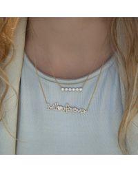 Anne Sisteron - Metallic 14kt Yellow Gold Diamond Circle Bar Necklace - Lyst
