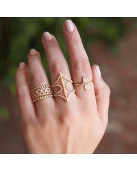 Anne Sisteron | Pink 14kt Rose Gold Diamond Web Ring | Lyst