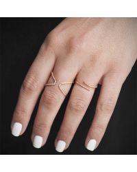 Anne Sisteron - 14kt White Gold Diamond Open X Ring - Lyst