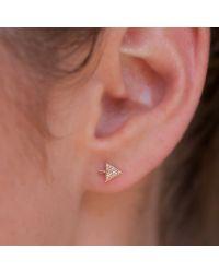 Anne Sisteron - Pink 14kt Rose Gold Diamond Split Arrow Stud Earrings - Lyst