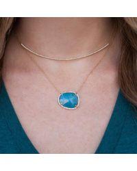 Anne Sisteron - 14kt White Gold Blue Apatite Diamond Necklace - Lyst