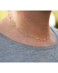 "Anne Sisteron - 14kt Yellow Gold Precious Topaz 14.5"" Choker Necklace - Lyst"