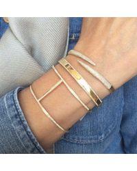 Anne Sisteron - Multicolor 14kt White Gold Diamond Large H Cuff Bracelet - Lyst