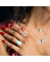 Anne Sisteron - Blue 14kt Yellow Gold Diamond Turquoise Sophia Ring - Lyst