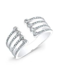 Anne Sisteron - Metallic 14kt White Gold Diamond Electric Ring - Lyst