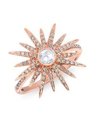 Anne Sisteron - Multicolor 14kt Rose Gold Diamond Sunburst Ring - Lyst