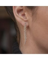 Anne Sisteron - Metallic 14kt Yellow Gold Diamond Spine Earrings - Lyst