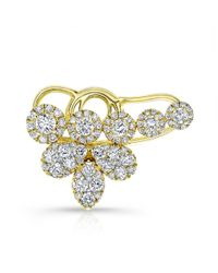 Anne Sisteron - Metallic 18kt Yellow Gold Diamond Carrie Ear Cuff - Lyst
