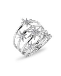 Anne Sisteron | Metallic 14kt White Gold Diamond Fireworks Ring | Lyst