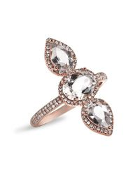 Anne Sisteron | Metallic 14kt Rose Gold Morganite Diamond Ring | Lyst